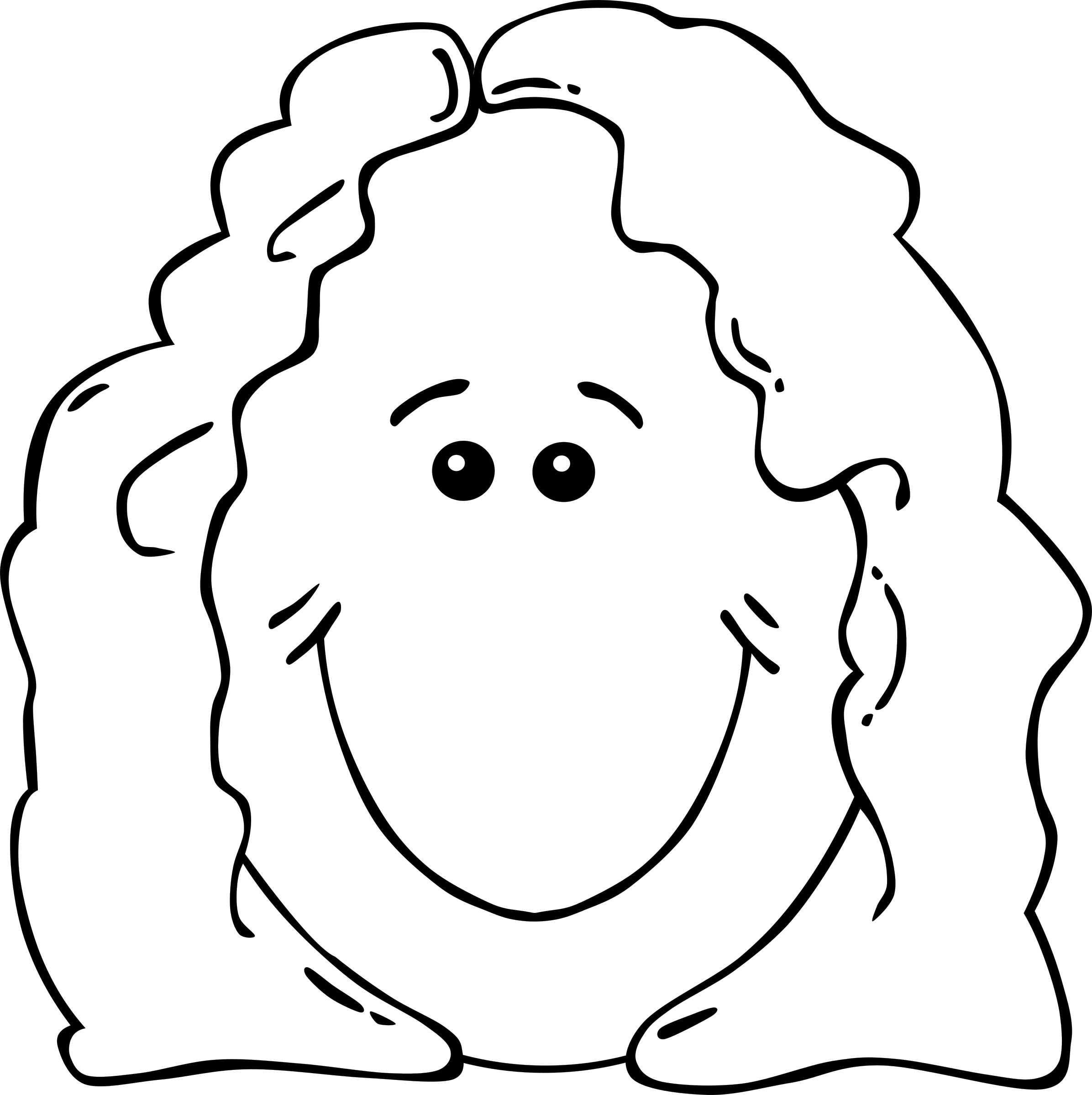 Faces clipart mum. Lady face from world