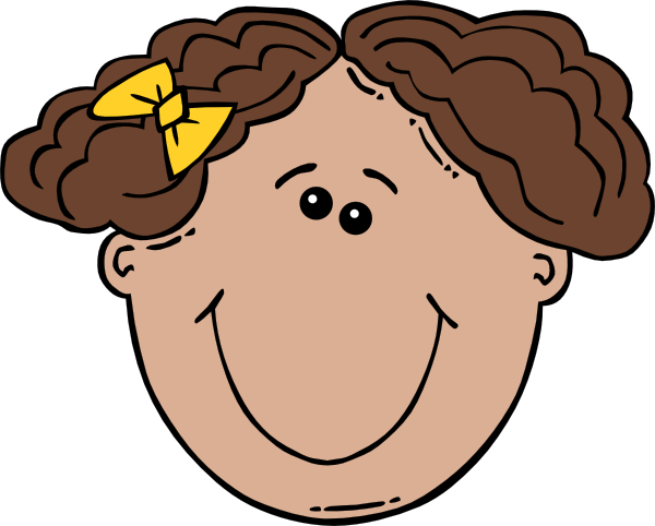 Lady vector face. Free cartoon pictures of
