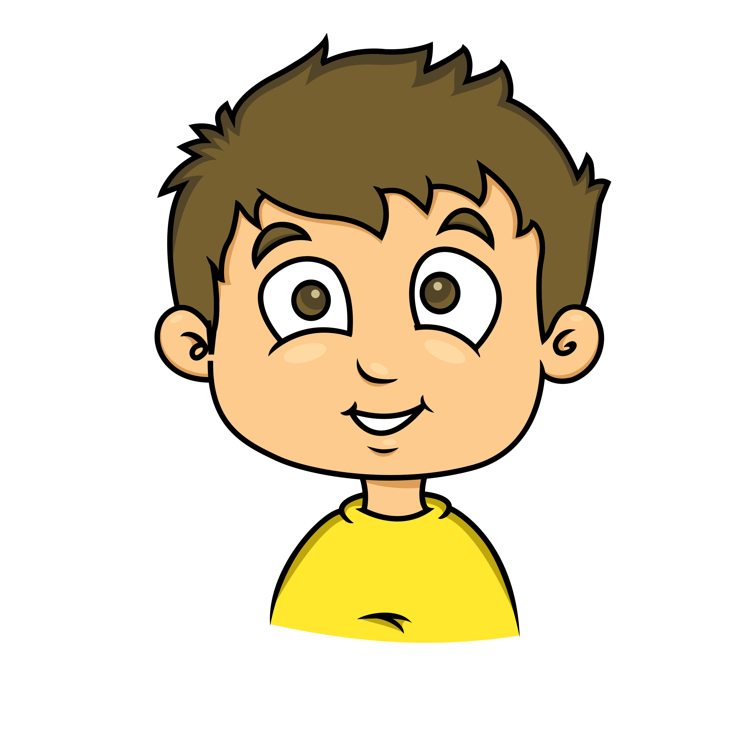 Chin clipart clip art. Smiling face of a