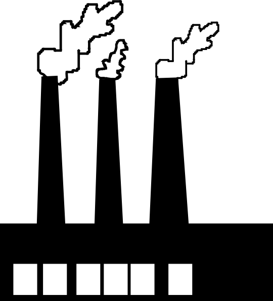 factories clipart smoking