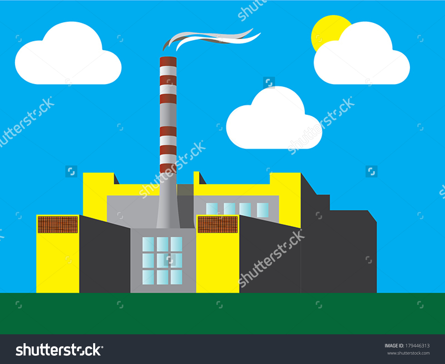 factories clipart incinerator