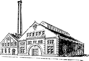 Industrial vector file free. Old factory clip art