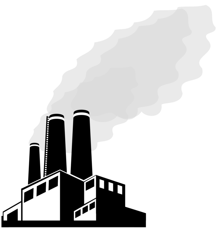 Factories clipart smoking. Factory building laborer smoke