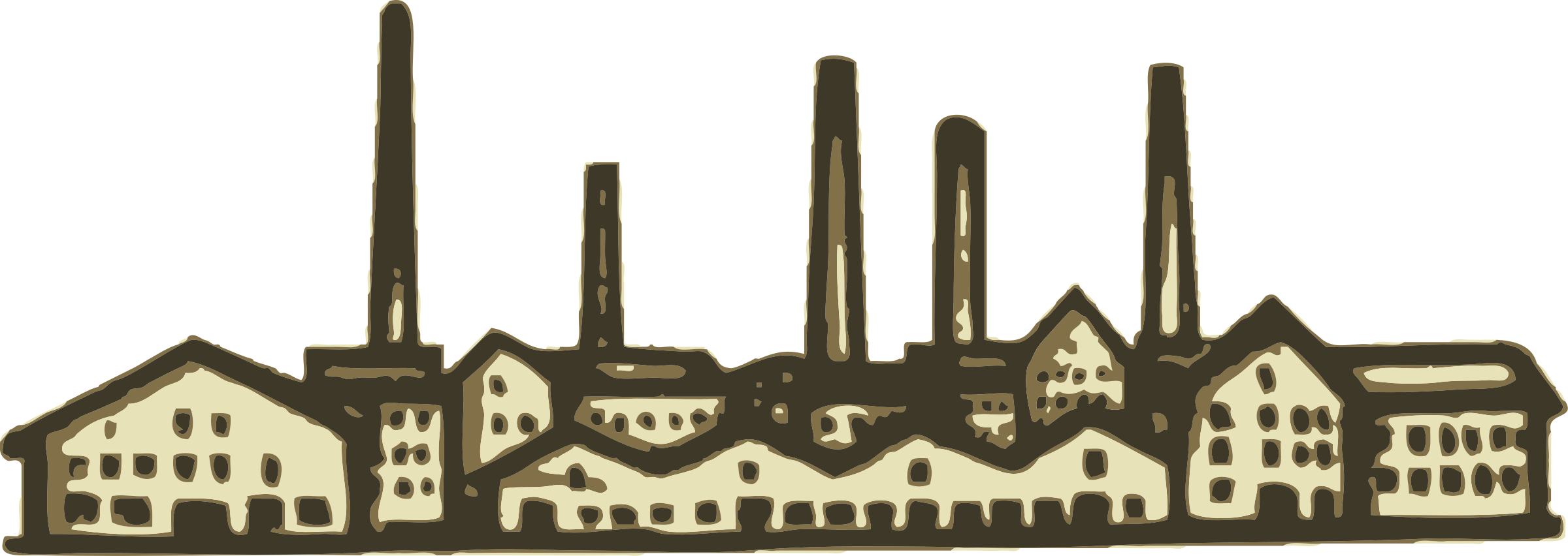 Factory clipart big factory. Old image png