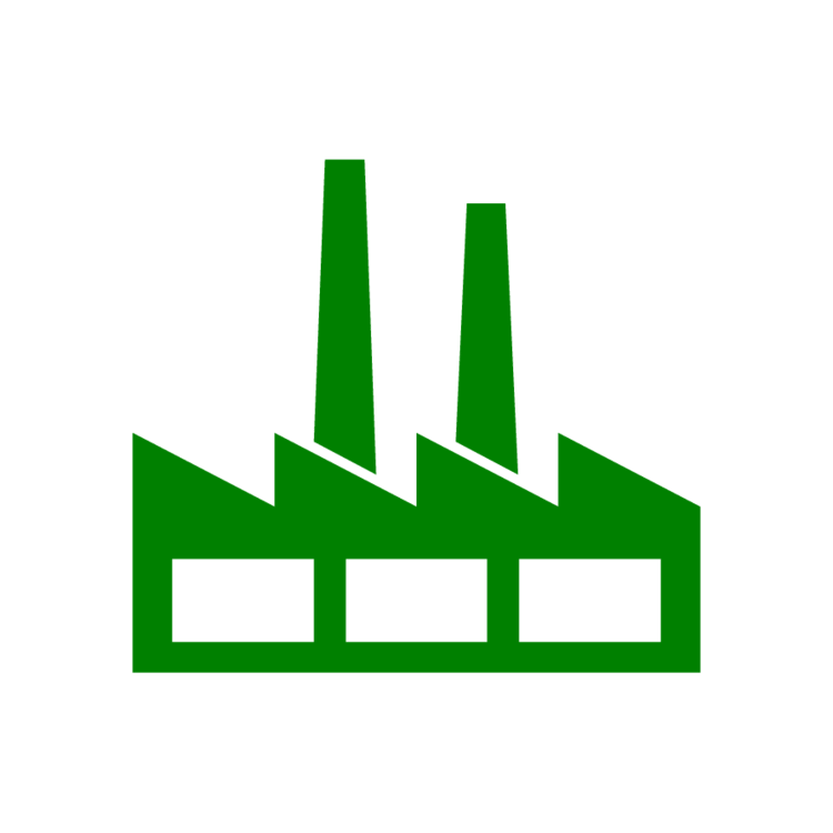Factory clipart green factory. Icon free icons easy