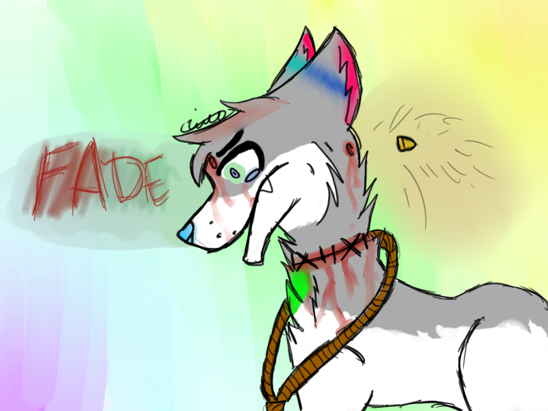 Fade drawing. Gore warning this is