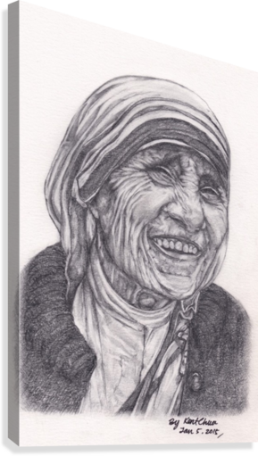 Hd drawing portrait. Mother theresa kent chua