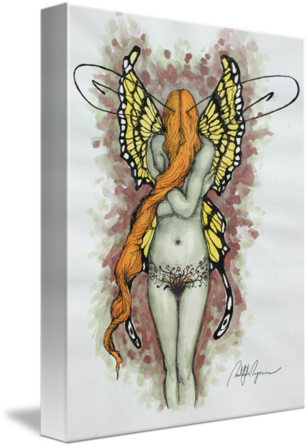 Faerie drawing ink. Fairy by rudolph poyorena