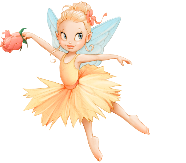Faerie drawing pen. Little pin up toons