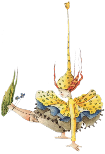 Faerie drawing pen. Whimsical fairies drawings illustration
