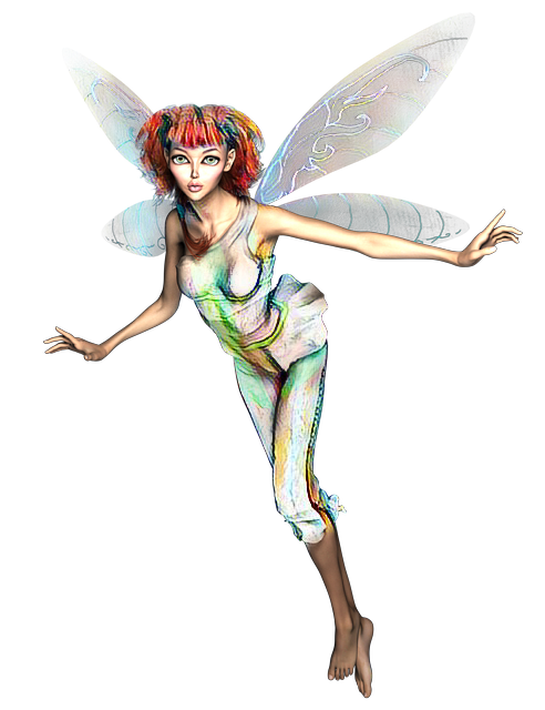 Transparent fairy fae. Woman beautiful fantasy fairytale