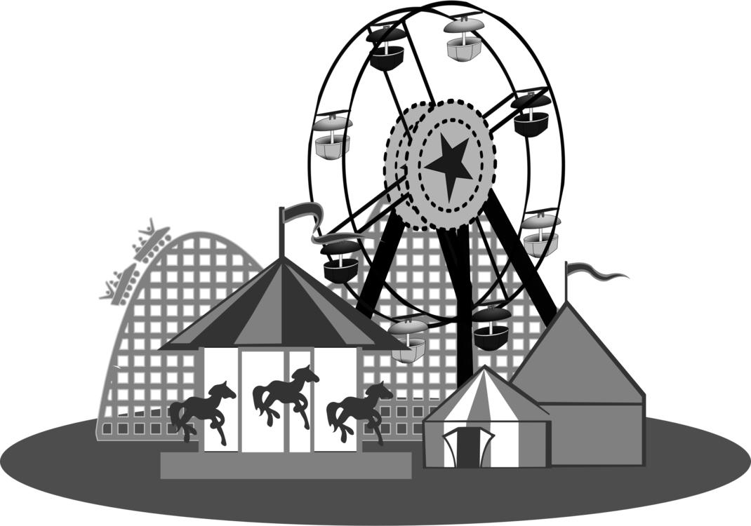 Carnival clipart roller coaster. Traveling black and white