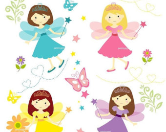 Fairy clipart group. Garden at getdrawings com