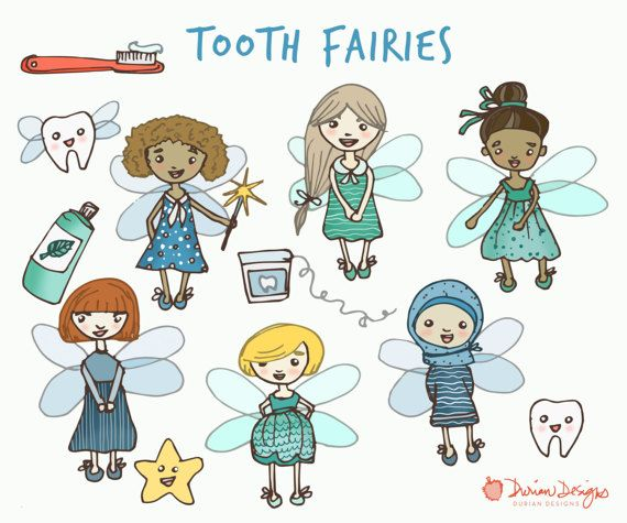 Fairy clipart group. Tooth fairies commercial use