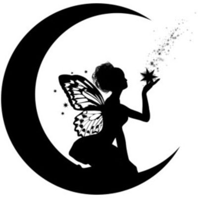 Fairy clipart moon. Best images by