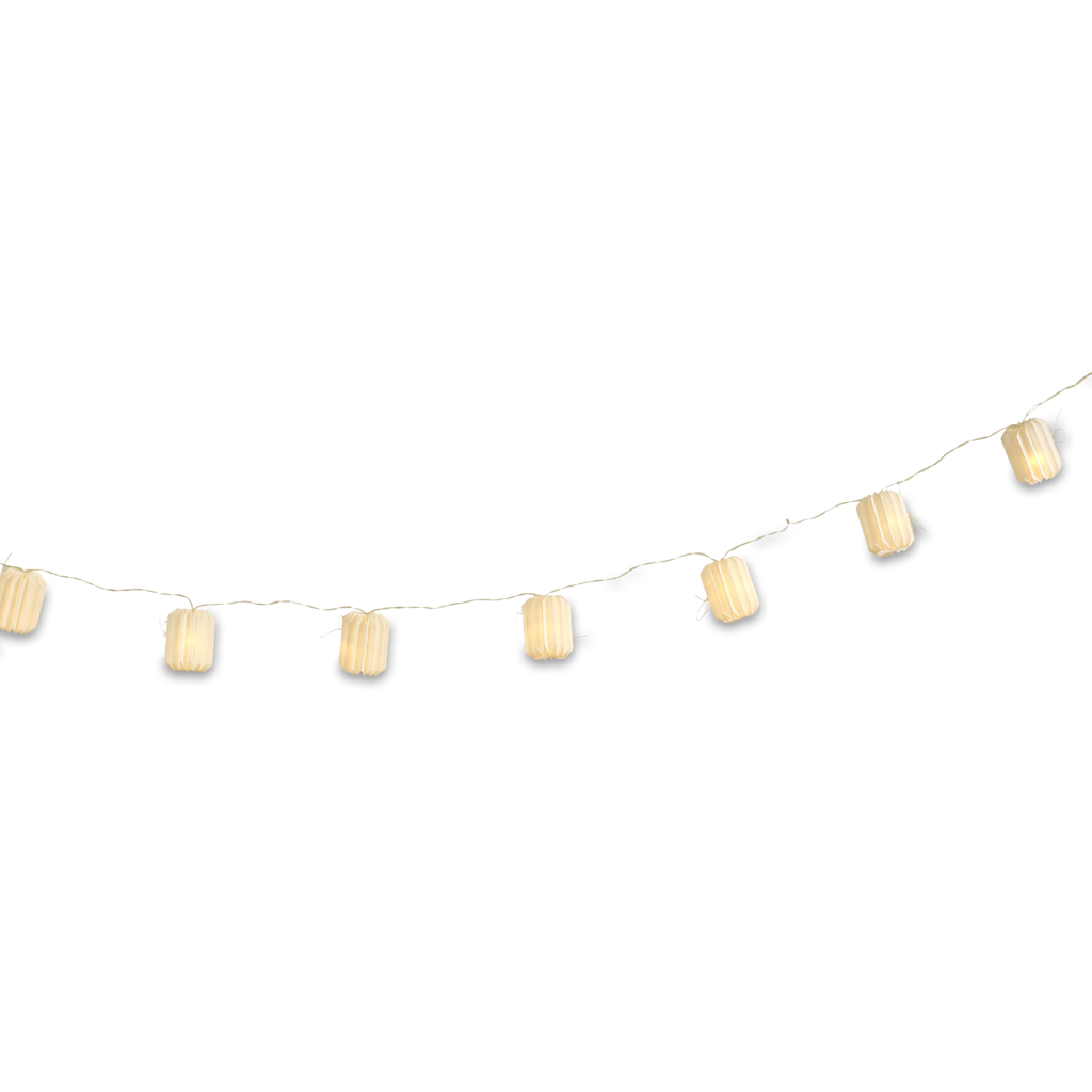 Fairy lights png. Paper lantern string battery
