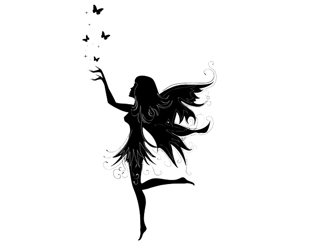 Png images of girls with tattoos. Fairy transparent free only