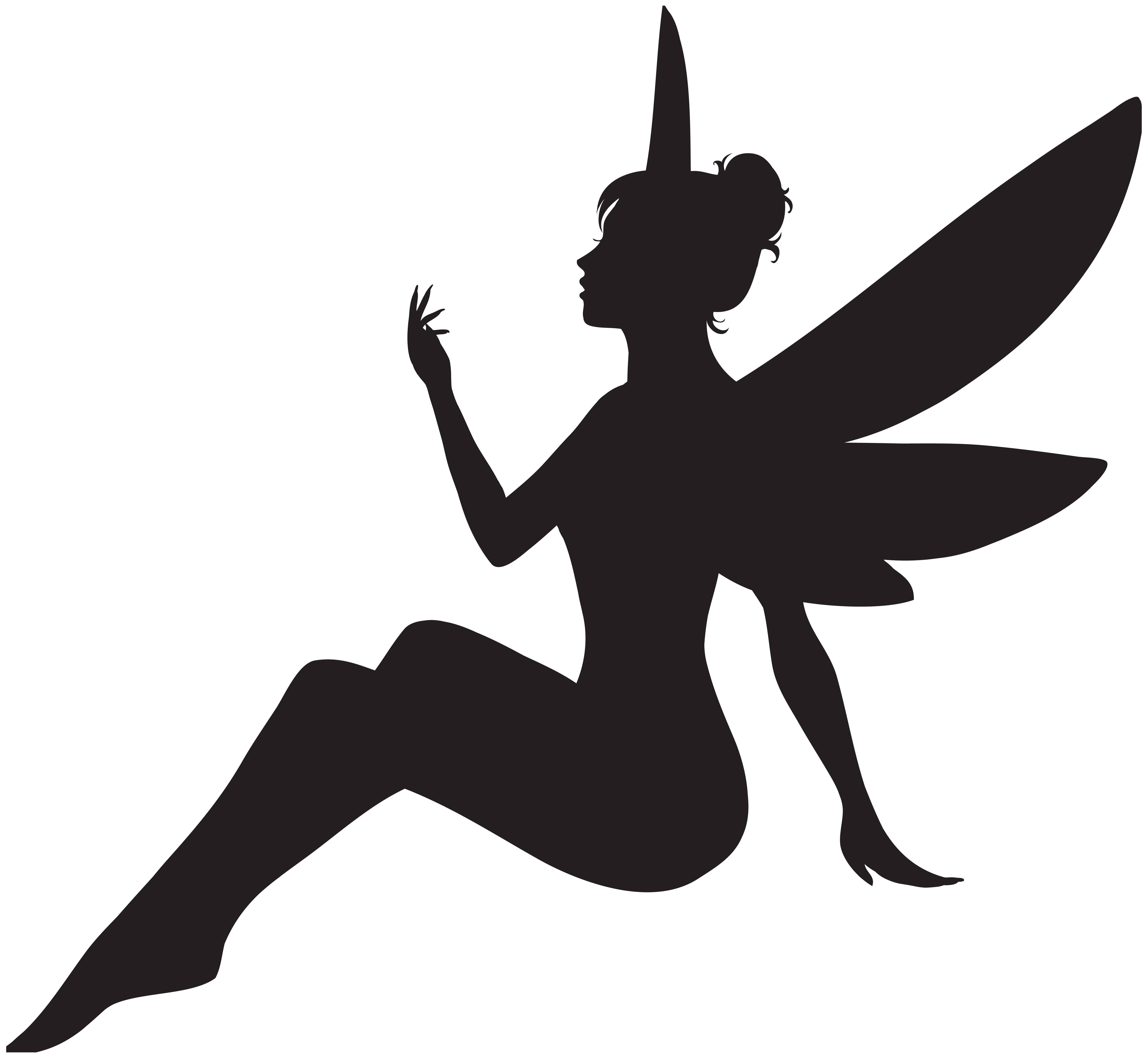 Fairy silhouette png. Clip art image gallery
