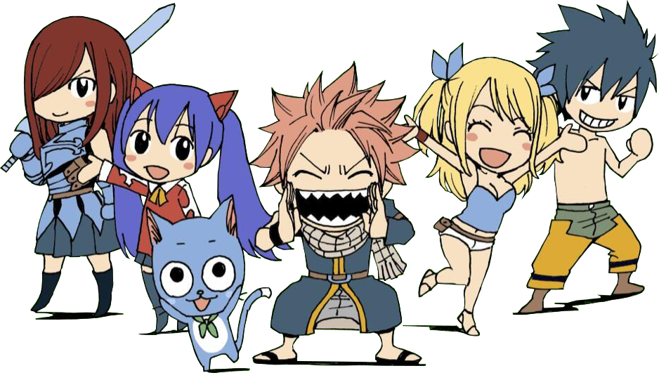 Fairy tail png. Image chibis teen titans