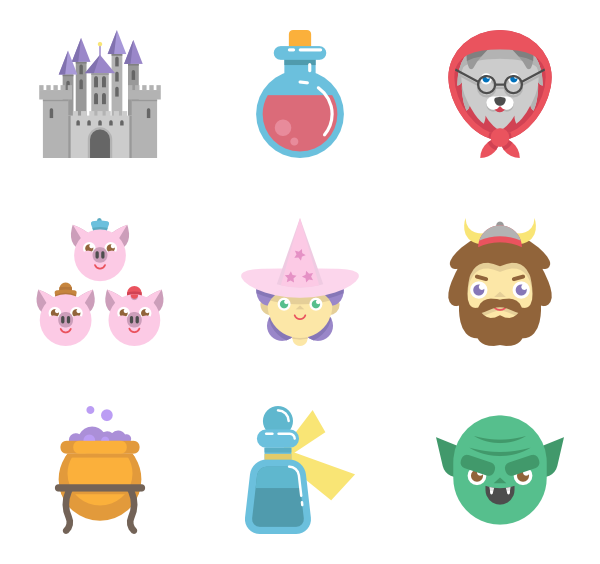 Fairy tale png. Icon packs vector