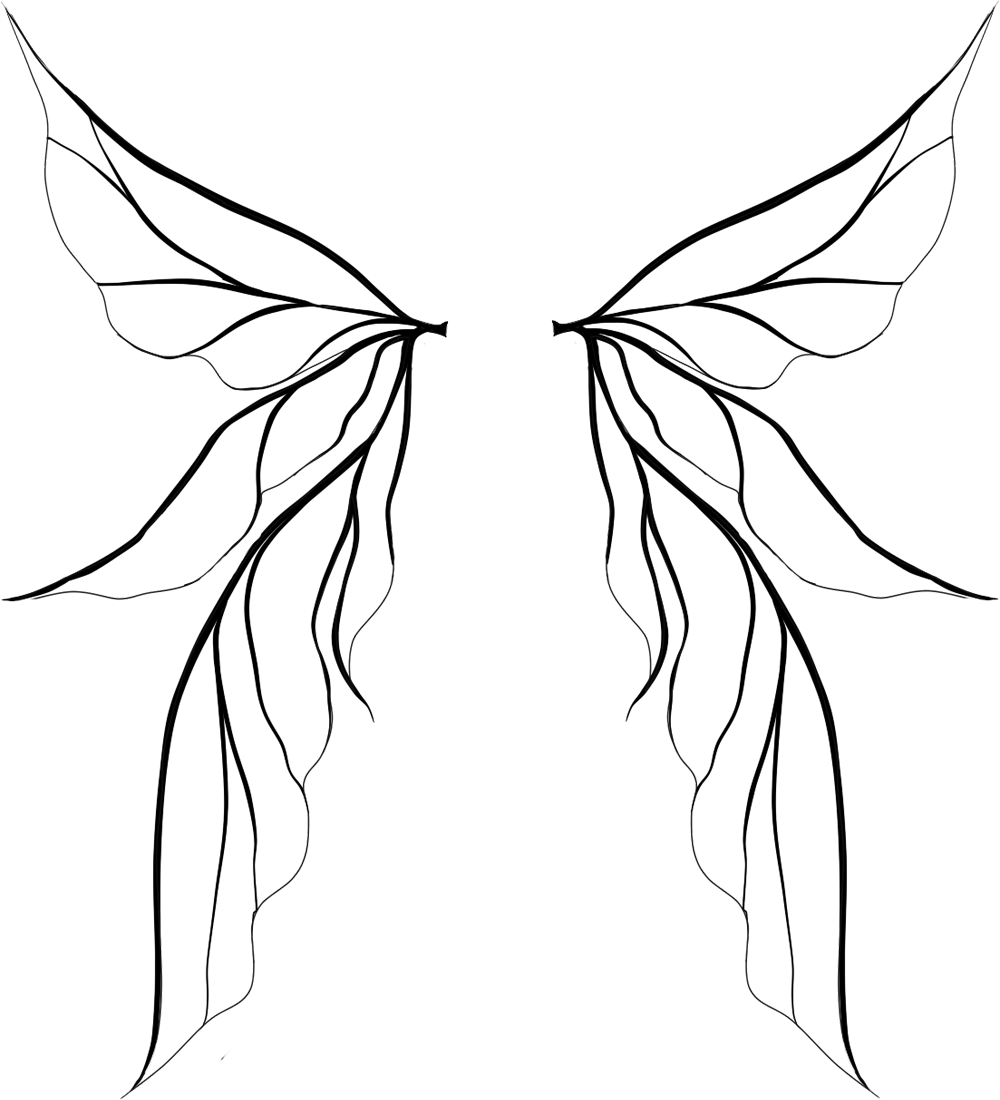Fairy wing png. Wings silhouette at getdrawings
