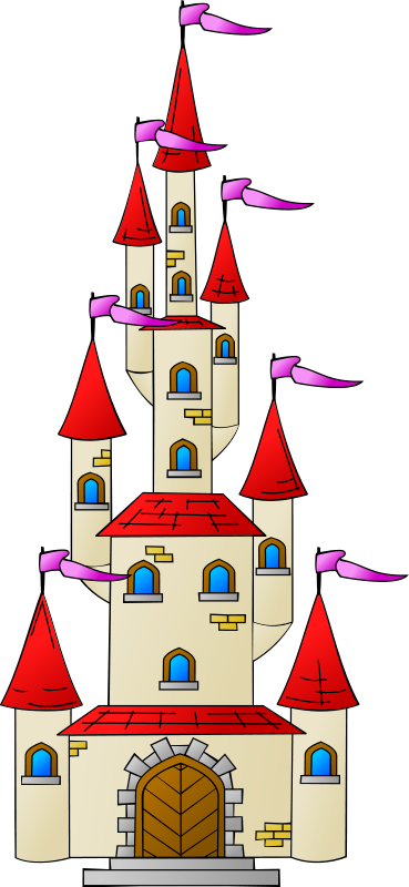 Castle clipart fairytale castle. Free pictures of animated