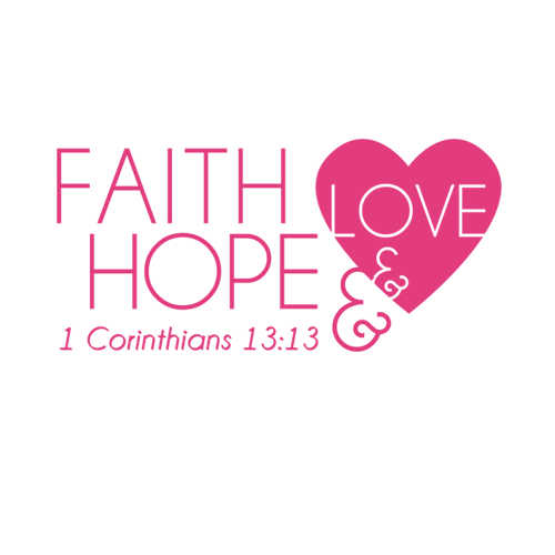 Hope transparent word. Faith and love by