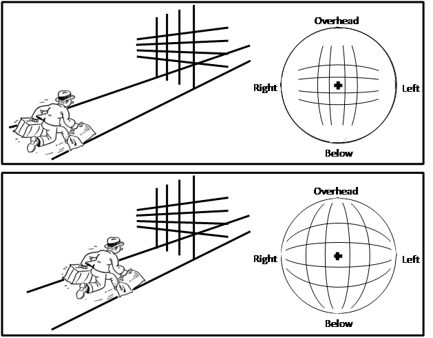 Fake drawing illusion. The science of illusions