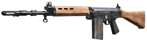 Fal rifle png. A semi automatic for