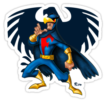 Falcon clipart blue falcon. The adventures of gladiators