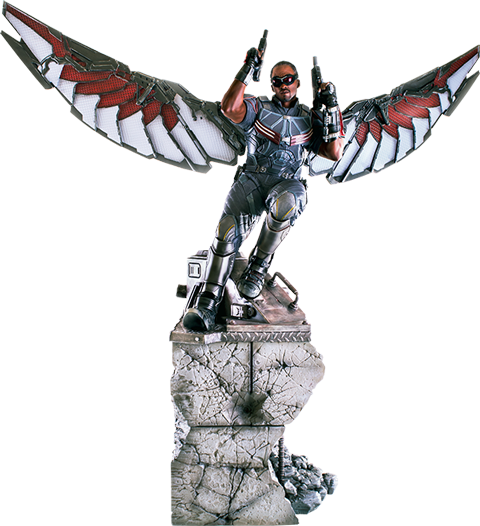 Falcon png marvel. Polystone statue by iron