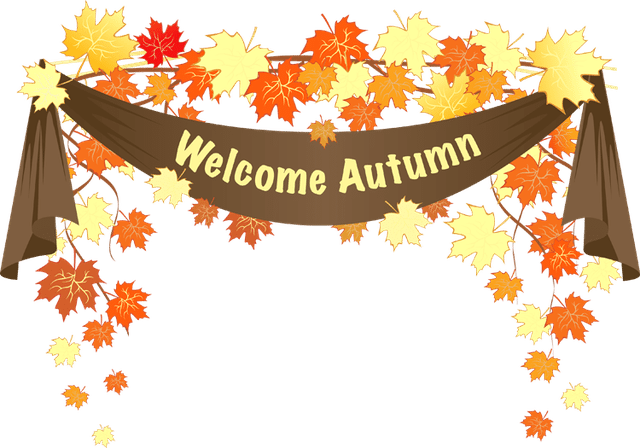 Fall banner png. Colorful clip art for