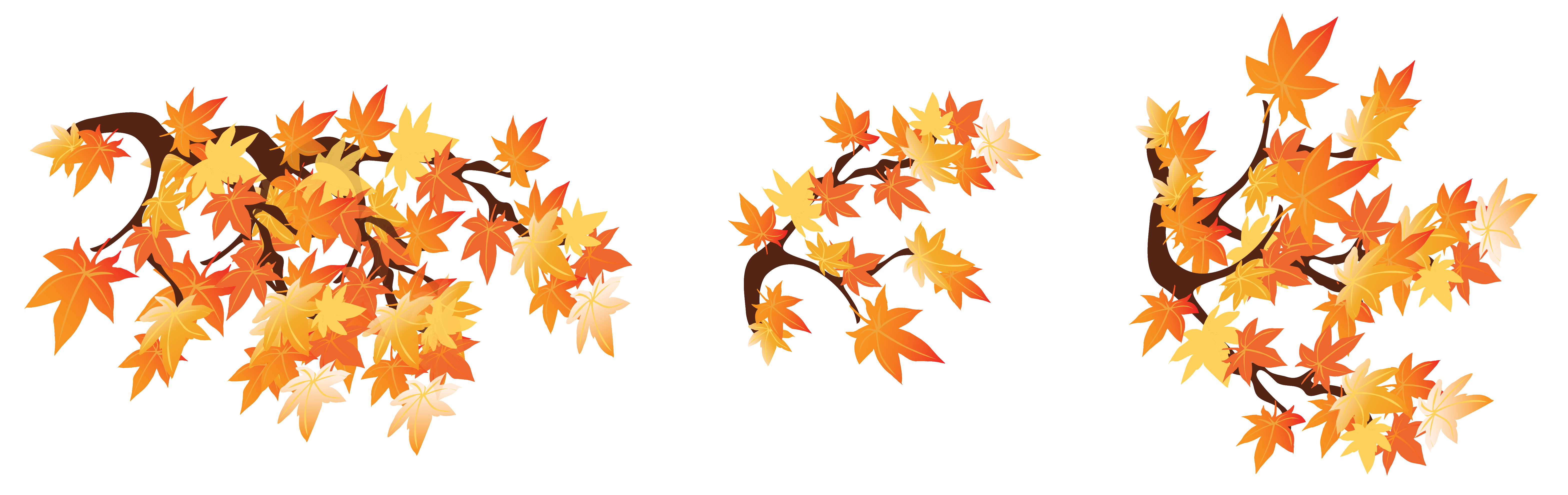 Leaves falling gif png. Autumn branches with clipart