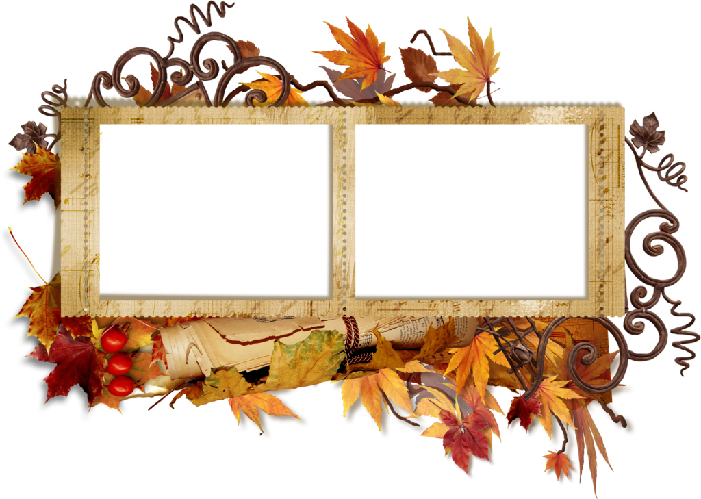 Scrapbook frame png. Fall transparent gallery yopriceville
