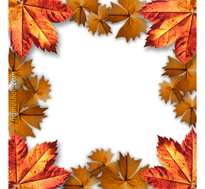 Fall frame png. Autumn photo frames automn