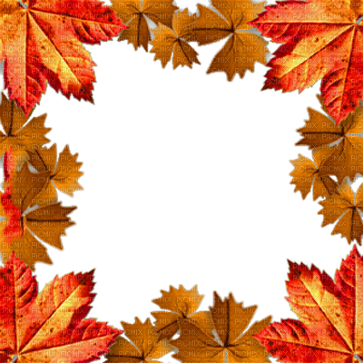 Fall frame png. Autumn automne leaves frames