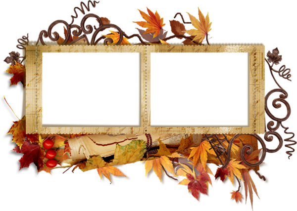 Fall frame png. Transparent borders and frames