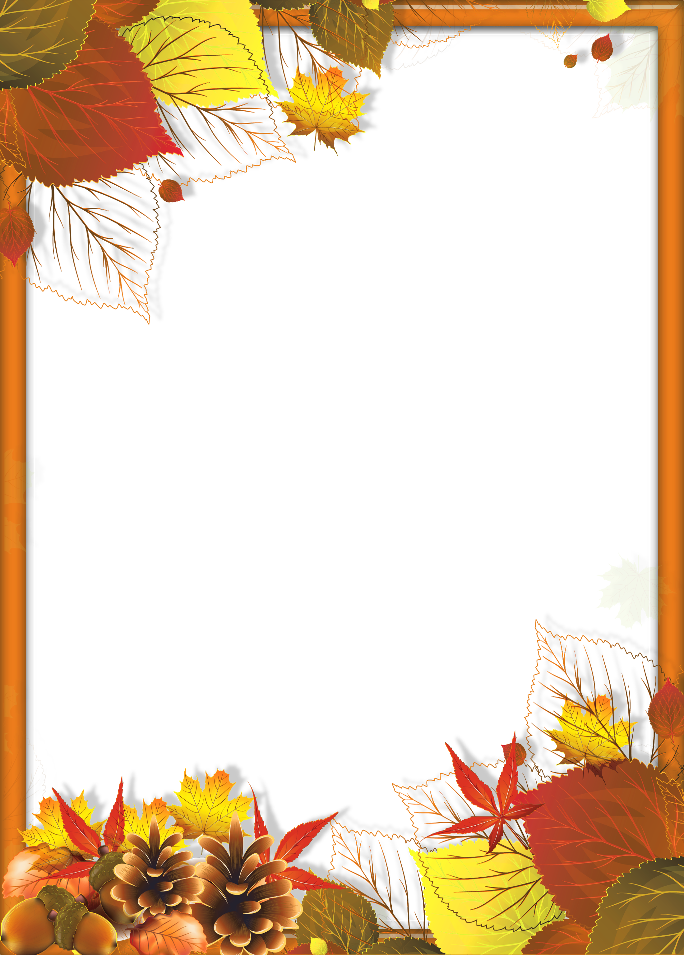 Fall frame png. Transparent with leaves gallery