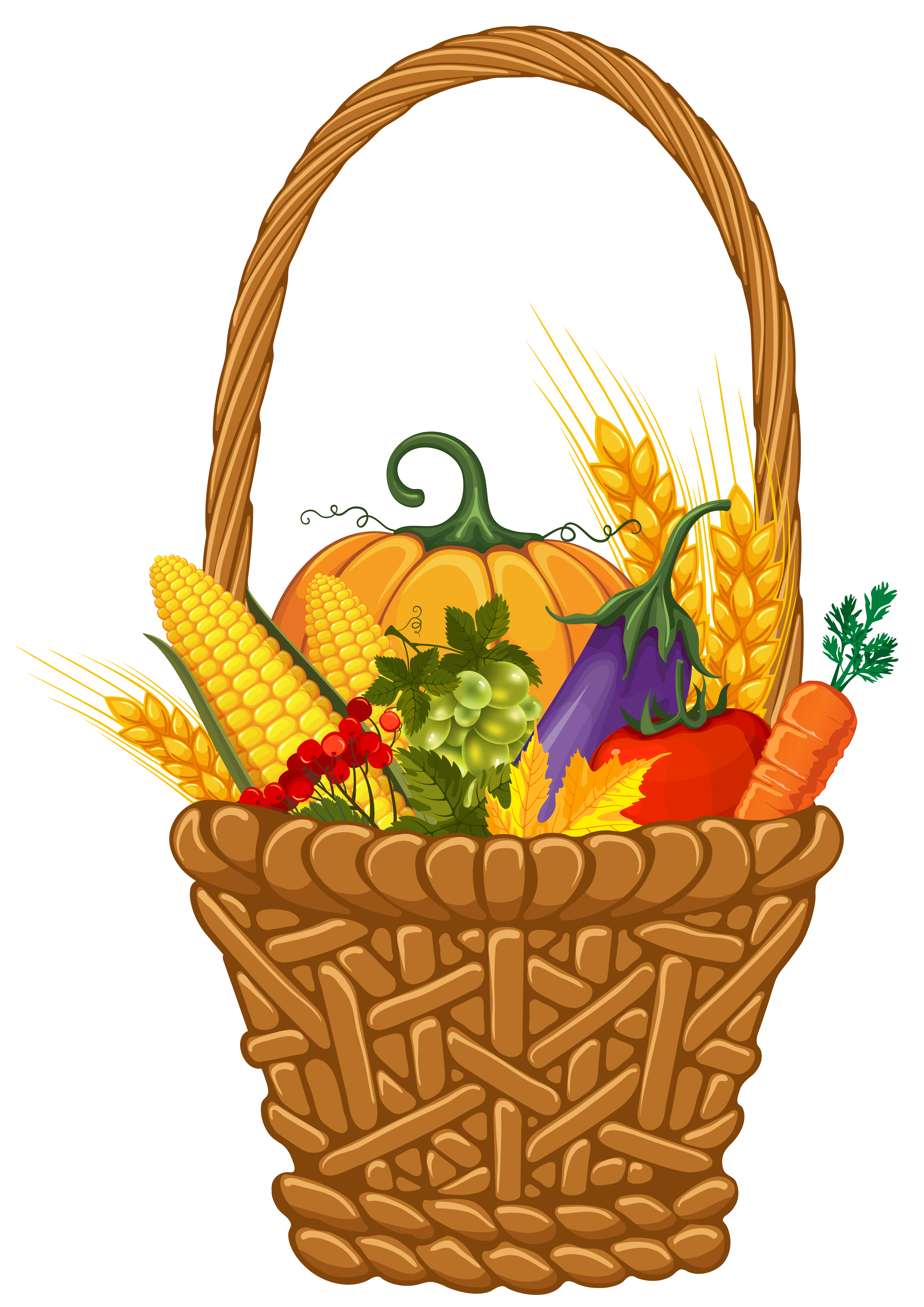 Fall harvest png. Basket clipart image gallery