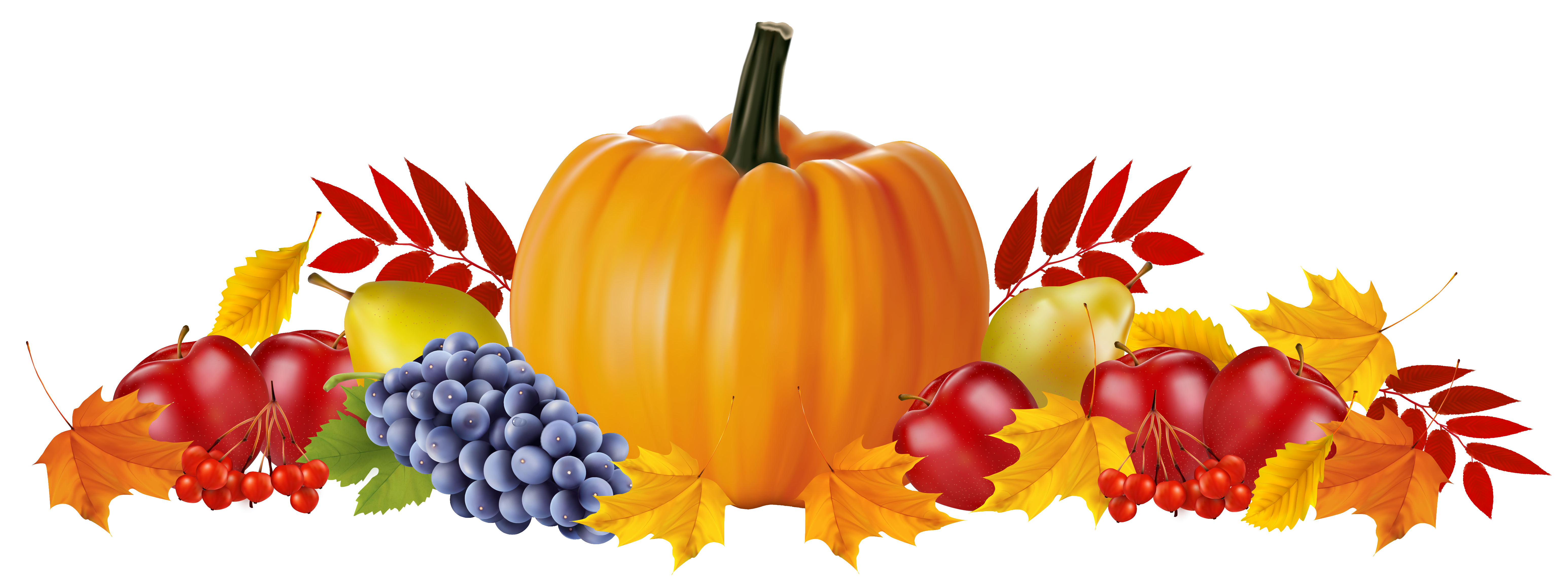 Autumn and leaves image. Fruits clipart png vector