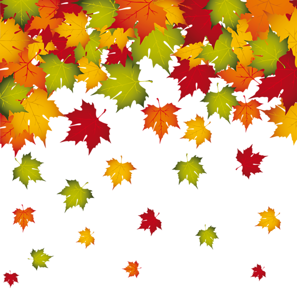 Fall leaves corner border png. Transparent decoration image planner