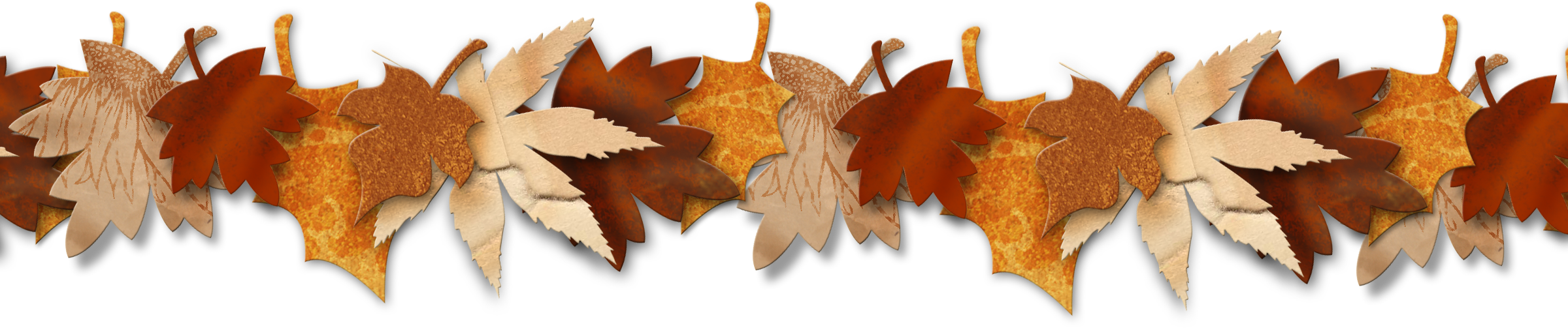 Fall leaves banner png. Collection of garland