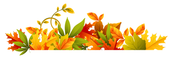 Fall leaves border png. Transparent autumn clipart graphicz