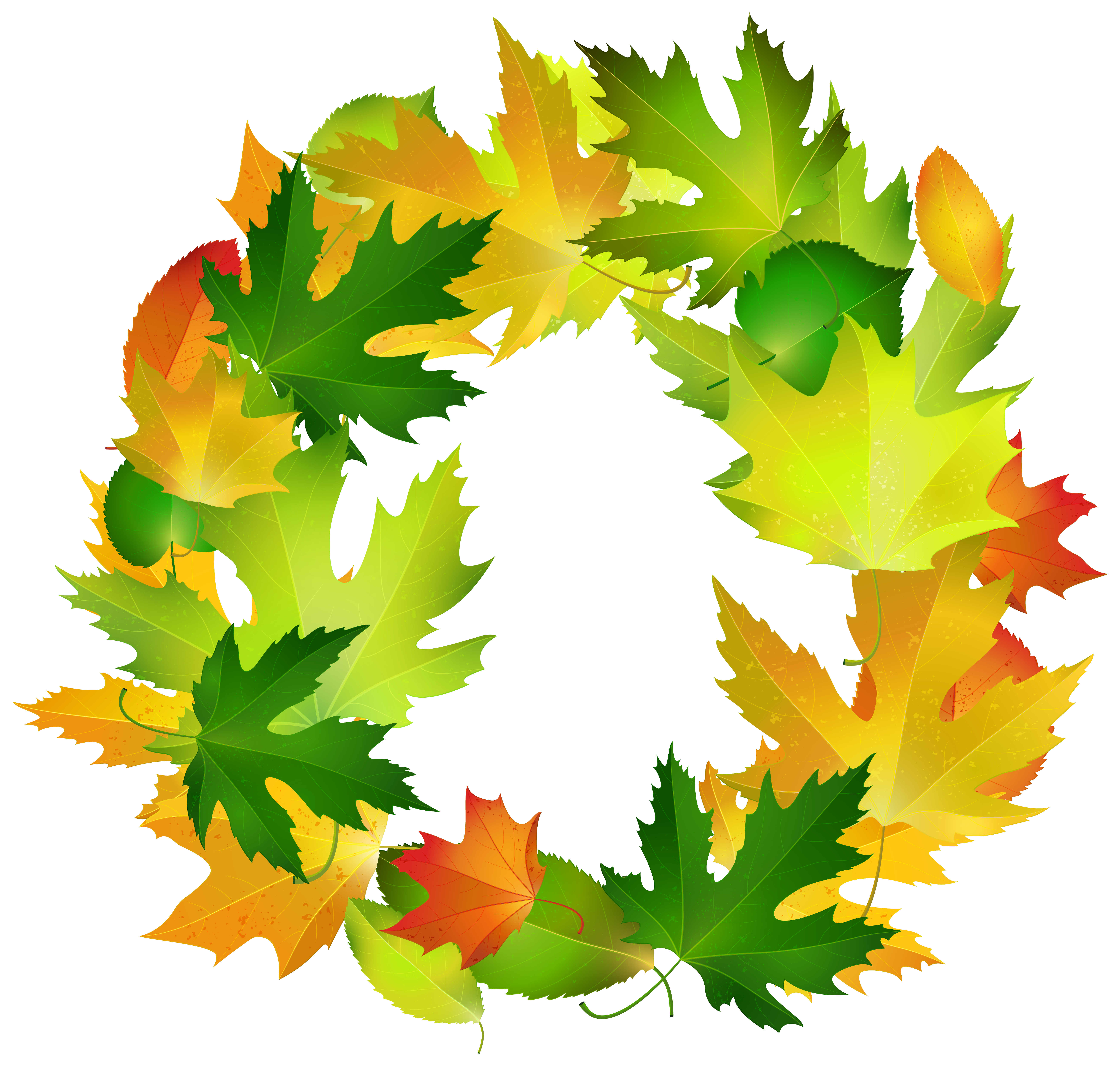 Fall leaves border labels png. Oval frame clipart image