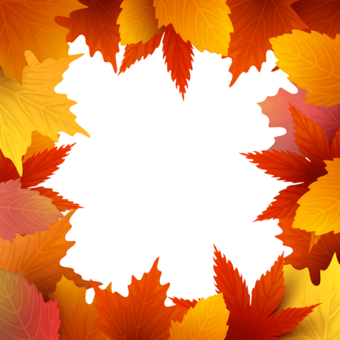 Fall leaves border png. Download autumn frame clipart