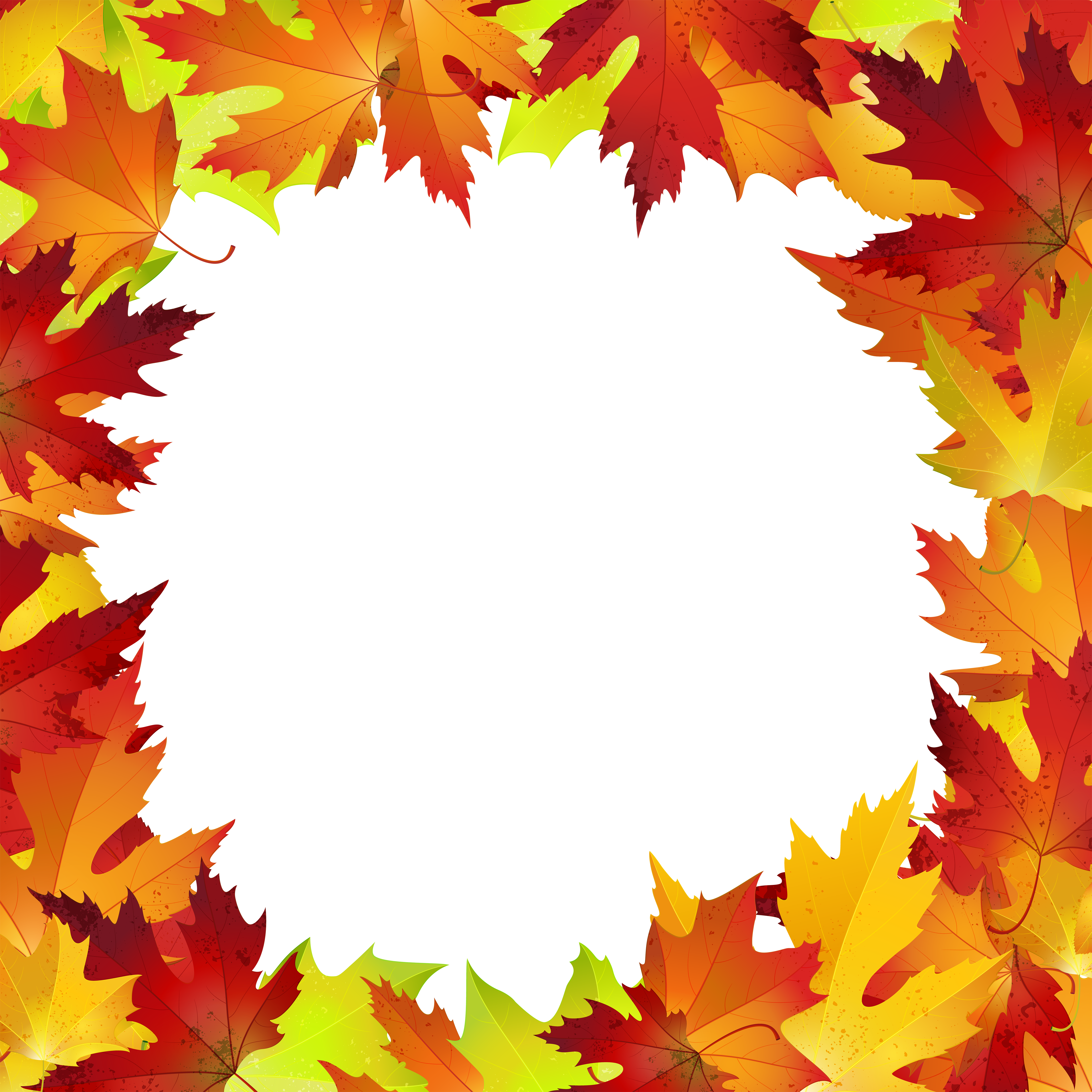 Fall leaves border png. Autumn clip art image
