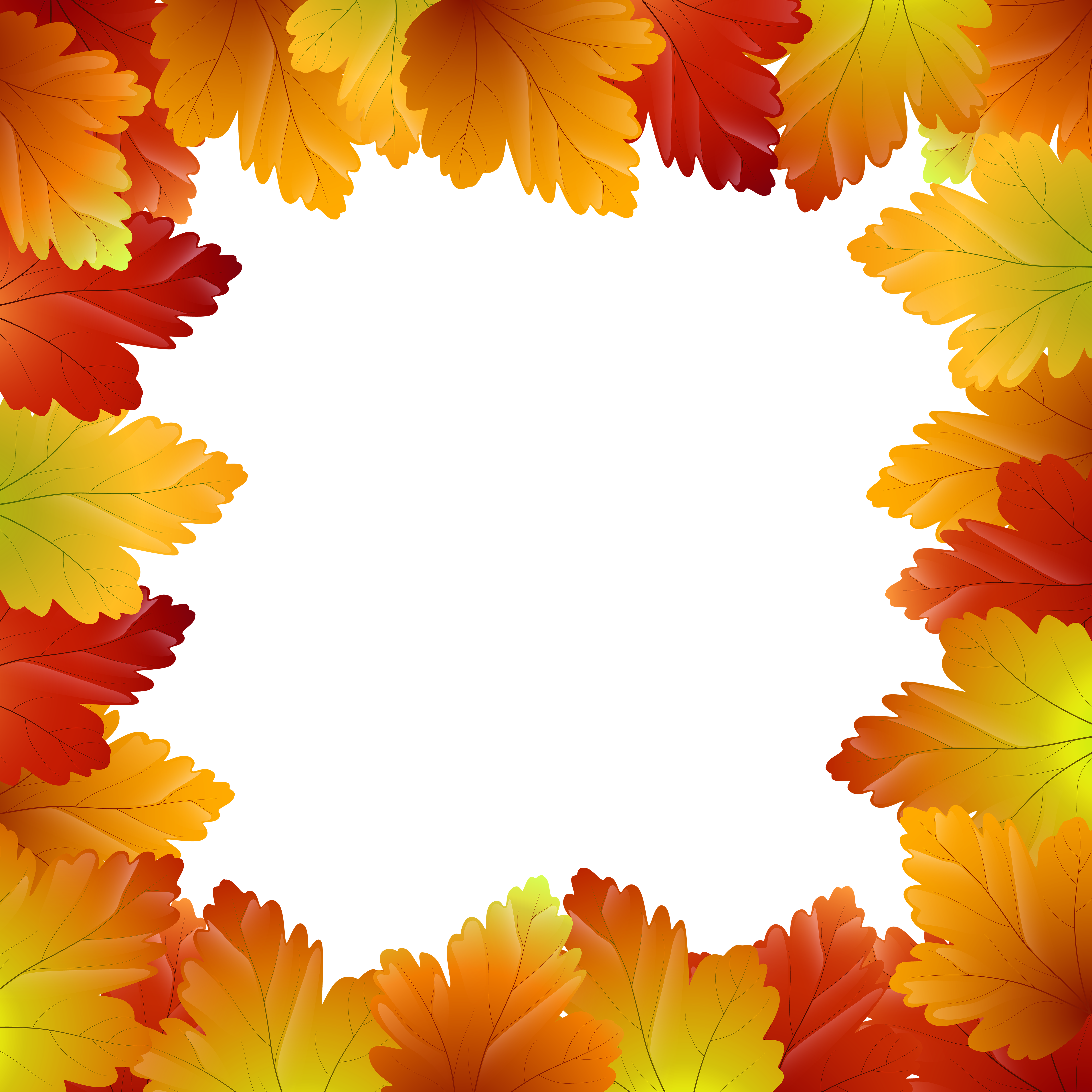 Fall frame png. Autumn leaves border clip