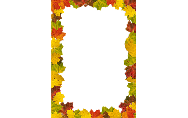 Fall leaves border png. Autumn leaf color download