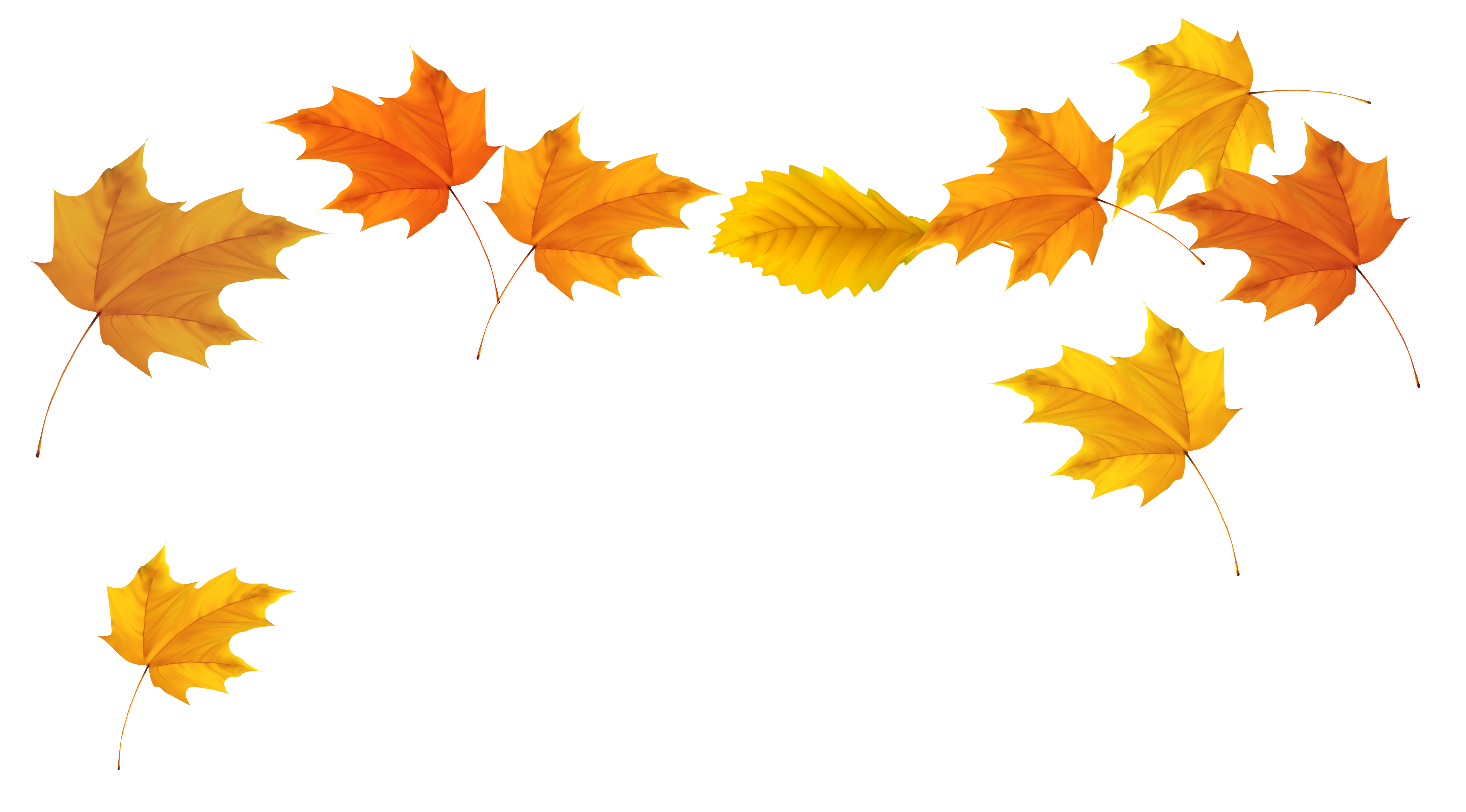 leaves blowing png