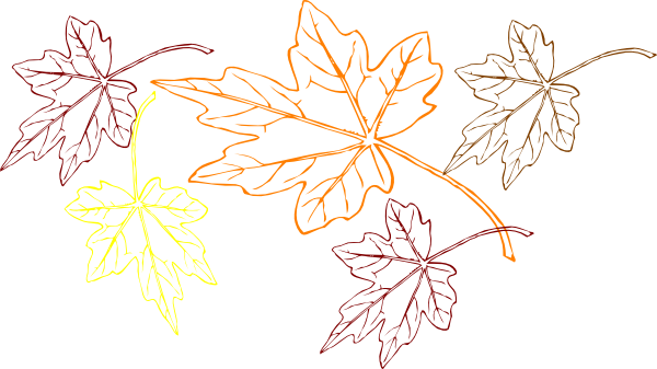 Fall leaves clipart png. Falling multiple colors clip